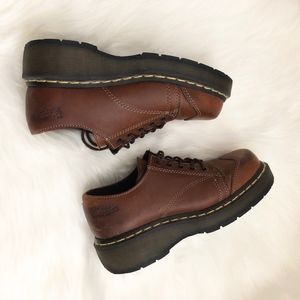 Dr.marten Oxfords Brown Wedges Size:6 leather new